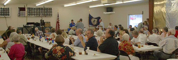 Scene of the 2002 Snidow annual meeting on August 11